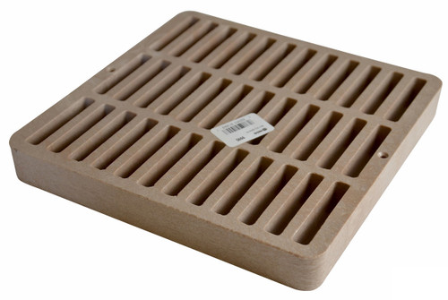 "NDS Square Plastic Grate for 9"" Basin - Sand (Each)"