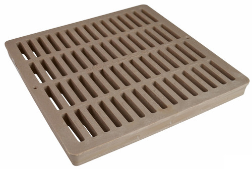 """NDS Square Plastic Grate for 12"""" Basin - Sand (Each)"""