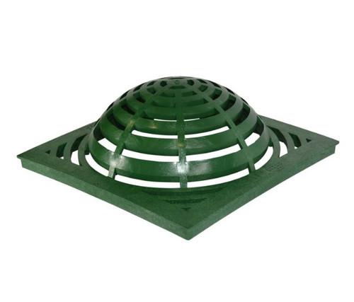"NDS Square Plastic Atrium Grate 18"" Basin - Green"