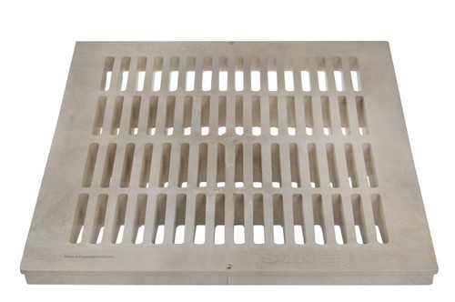 "NDS Square Plastic Grate For 18"" Basin - Sand"