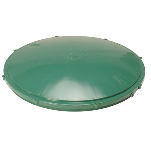 "Tuf-Tite 20"" Domed Riser Lid (Green)"