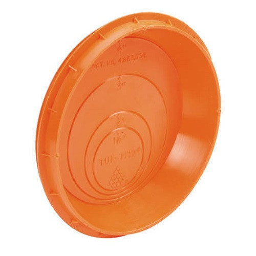 Orange Pipe Seal Plug for Tuf-Tite Sump & Distribution Boxes