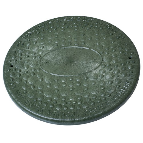"12"" Structural Foam Solid Septic Riser Cover (Green)"