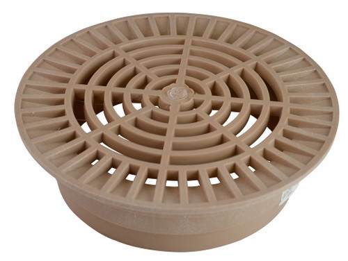 "NDS 10"" Round Grate for 8"" Pipe - Sand (Each)"