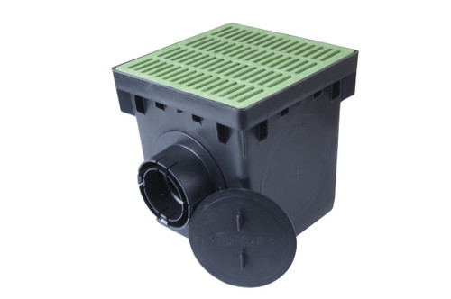 Nds 12 Quot Catch Basin Kit W Green Grate The Drainage