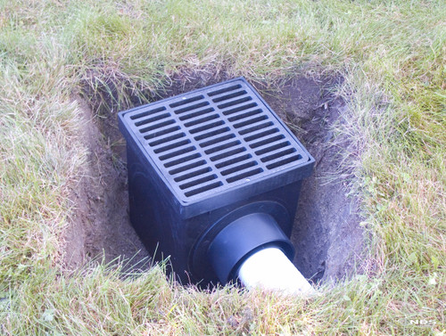 Nds 9 Quot Catch Basin Kit W Black Grate The Drainage