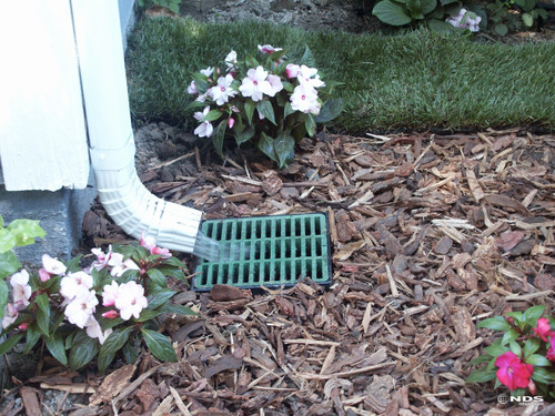 "NDS 9"" Catch Basin Kit w/ Green Grate"