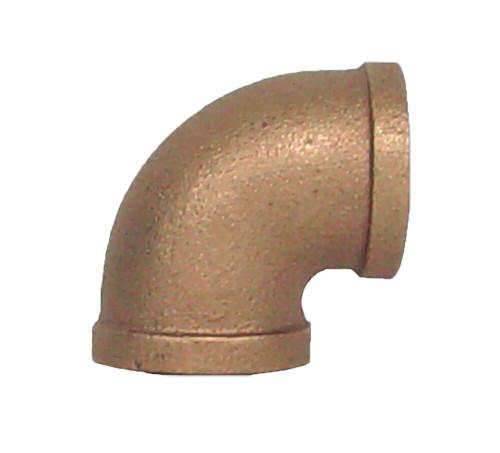 """1 1/2"""" Bronze 90 Elbow (1/4) (FPT x FPT)"""