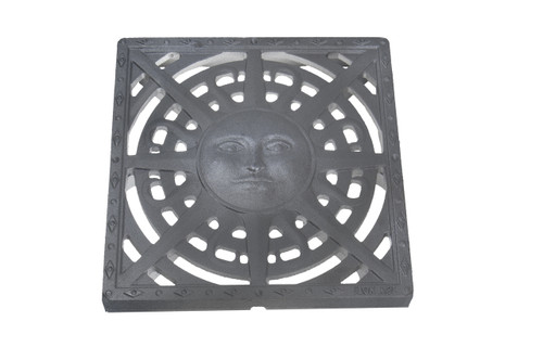 "Iron Age Raw Cast Iron Sun Drain Grate for 12"" Basin"