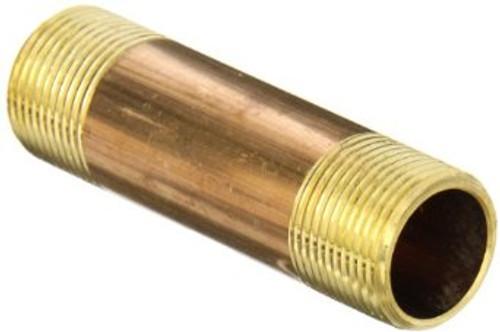 """1/2"""" x 6"""" Brass Nipple (MPT x MPT)"""