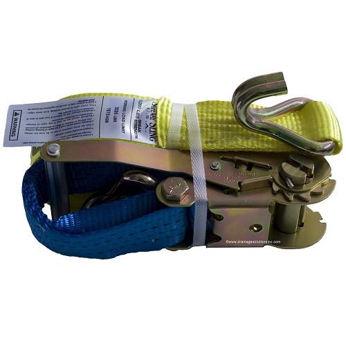 """2"""" x 27' Wire Hook Ratchet Strap  (3,335 lb. / 10,0000 lb.)"""