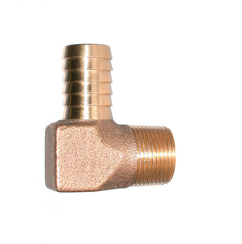 "1"" Bronze Hydrant Insert 90 (Insert x MPT)"