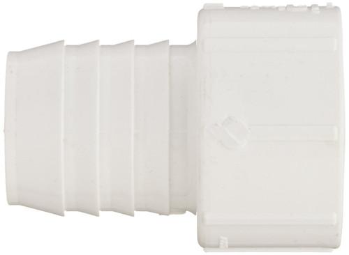 """1 1/2"""" PVC Pipe Insert Adapter (Insert x Socket) (White)"""