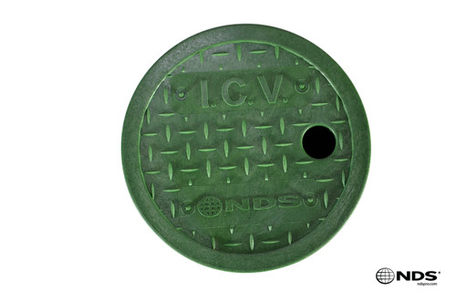"NDS 6"" Round Valve Box Cover ONLY (Green Cover)"