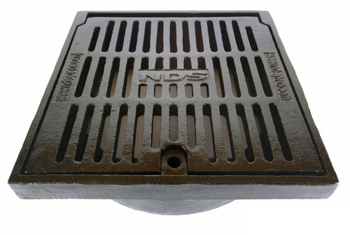 "NDS 12"" Duracast Square Hinged Grate without adapter"