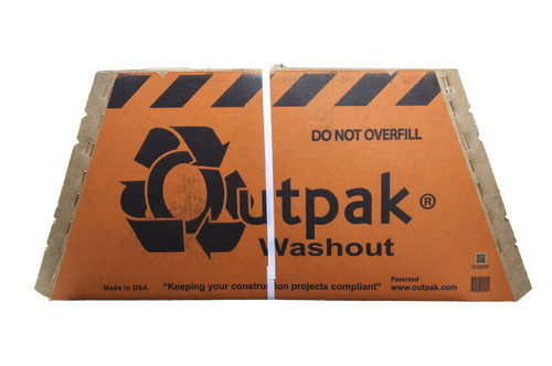 "Outpak 30"" x 30"" Concrete Washout Container"