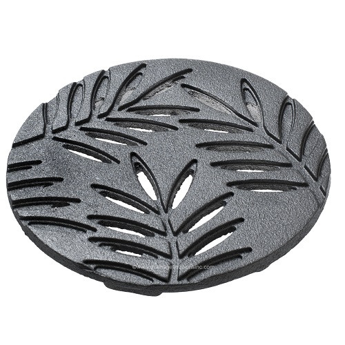 "Iron Age Raw Cast Iron Locust 6"" Round Grate"