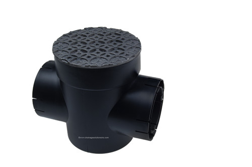 Spee-D Basin Double Outlet with Cast Iron Interlaken Grate
