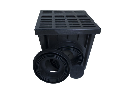 "NDS 24"" Two Hole Catch Basin Kit w/ Cast Iron Grate"