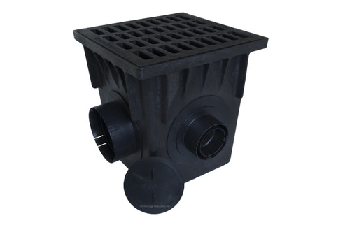"""NDS 18"""" Four Hole Catch Basin Kit w/ Cast Iron Grate"""