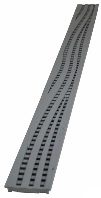NDS Mini Channel Decorative Wave Grate - Gray (Each)