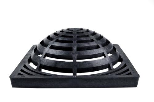 """NDS Square Plastic Atrium Grate 18"""" Basin - Black"""