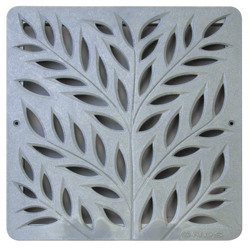"""NDS Square Decorative Botanical Grate for 12"""" Basin - Gray (Each)"""
