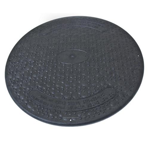 "24"" Structural Foam Solid Septic Riser Cover - Black"