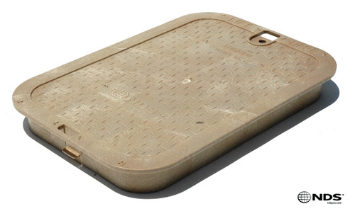 "NDS 14"" x 19"" Valve Box Cover ONLY - Sand"