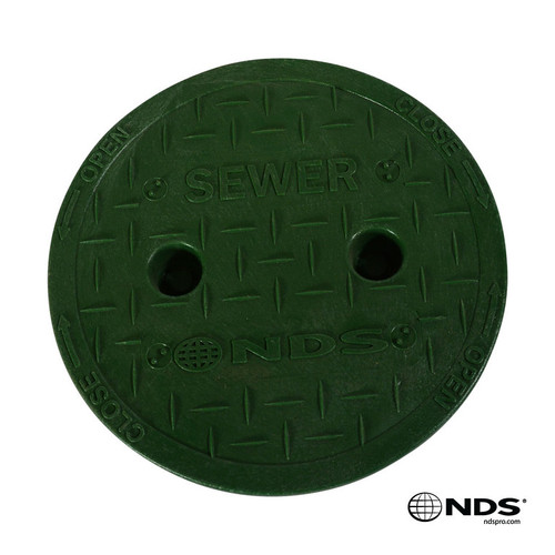 """NDS 6"""" Valve Box Sewer Cover ONLY - Green"""