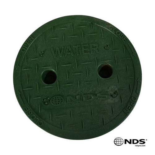 """NDS 6"""" Valve Box Water Cover ONLY - Green"""
