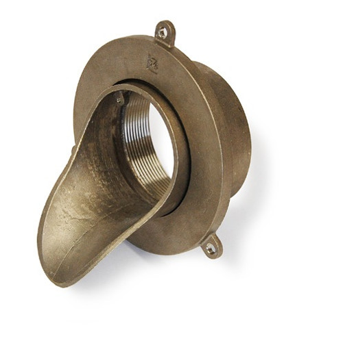 "4"" FIP Thread Nickel-Bronze Downspout Nozzle"