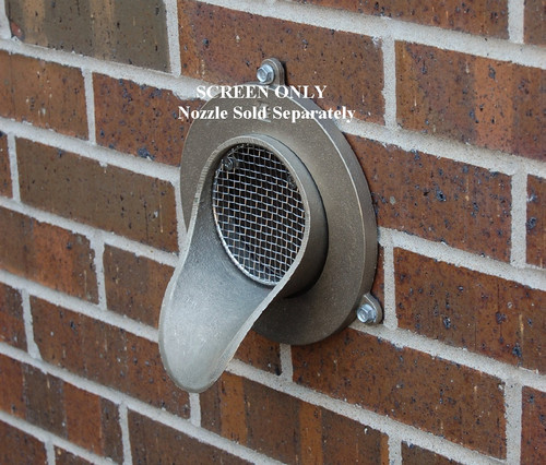 "6"" Bird Screen for Nickel-Bronze Downspout Nozzle"