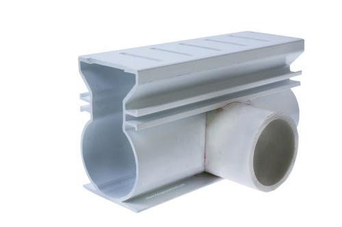 Stegmeier Super Drain Side Adapter (White)
