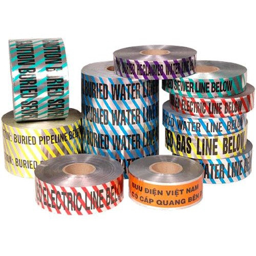 "2"" X 1000' Green Detectable Marking Tape - Sewer"