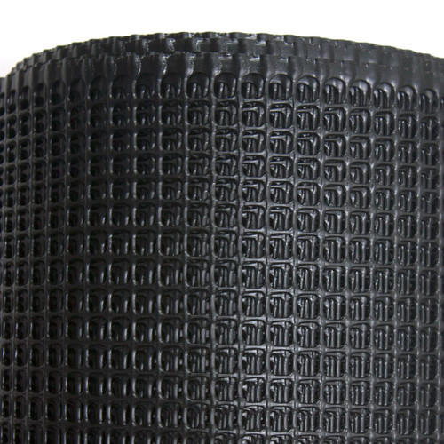 "4' x 100' Black Specialty Barrier Fence - 1/2"" Square Mesh"