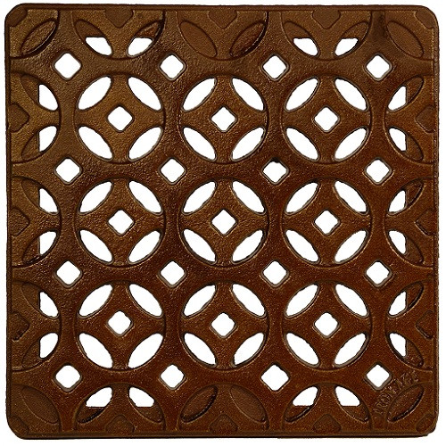 "Iron Age Baked on Oil Finish Cast Iron Interlaken Grate for 9"" Basin"