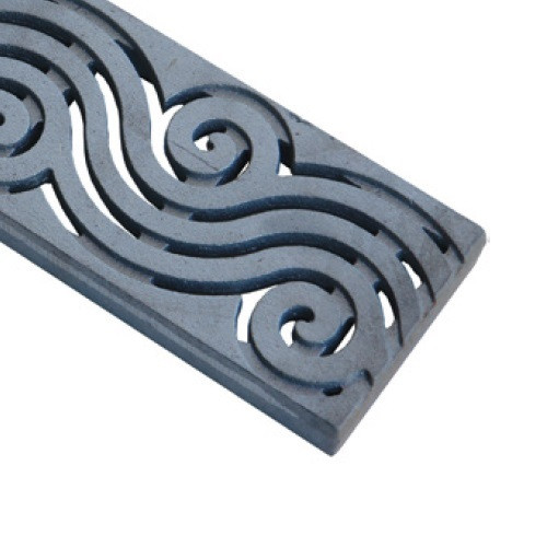 ABT Polydrain Raw Ductile Iron River Wave Grate