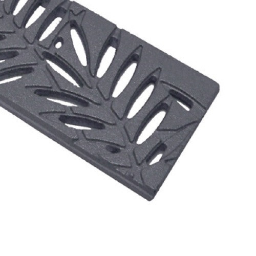 ABT Polydrain Raw Ductile Iron Fern Grate