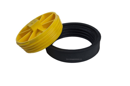 """4"""" """"T"""" Cone Cleanout Test Plugs (SDR35, Sch. 40 DWV)"""