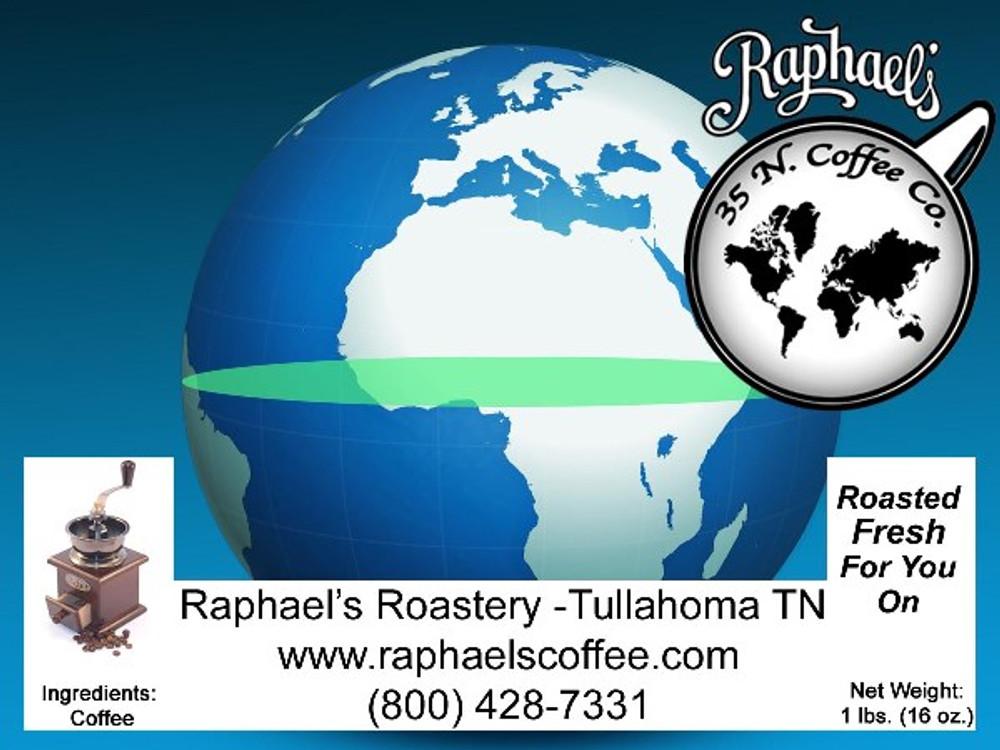 Fair Trade Certified Organic blend of three very distinct growing regions.