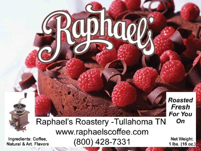 Dark, rich chocolate with raspberries.