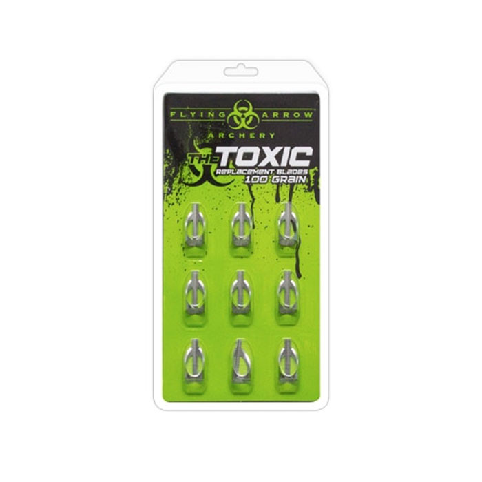 TOXIC BROADHEAD - 100 GRAIN REPLACEMENT BLADES