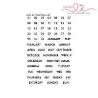 Bold Dates 4x6