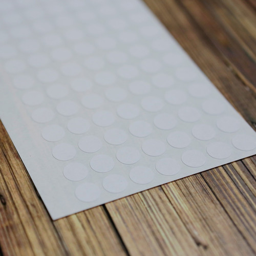 "White .4"" Removable Circle Stickers"