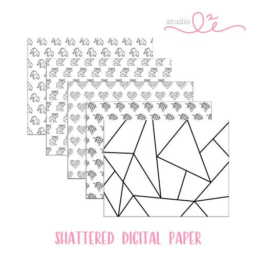 Shattered * DIGITAL PAPER *
