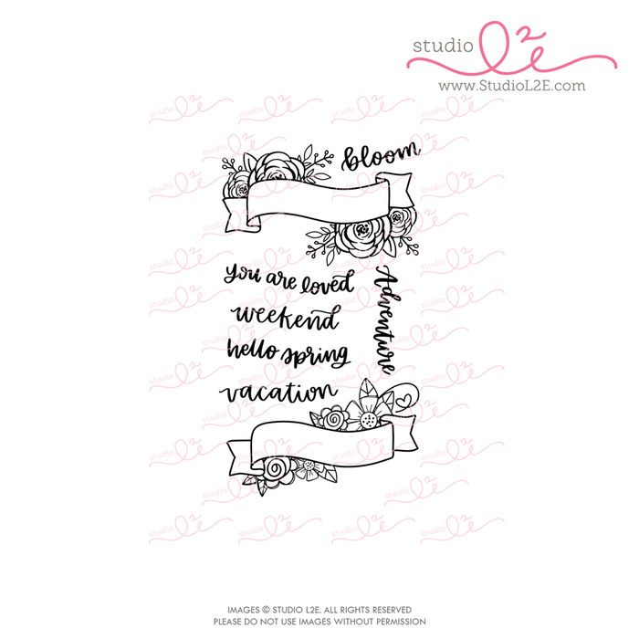 Spring Banners planner stamps by Studio L2E