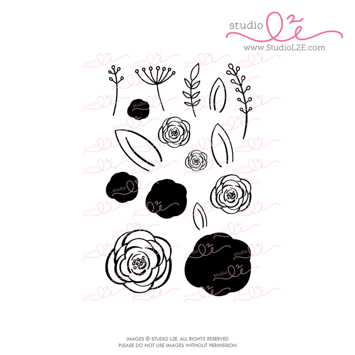 Spring Blooms planner stamps by Studio L2E