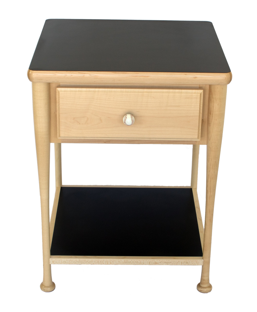 Grand Slam Baseball Bat Nightstand Front View / Sporty Beds
