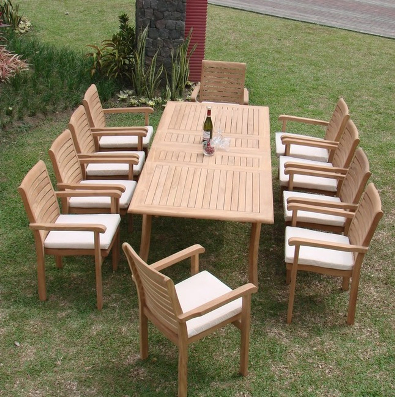 Cypress Teak Dining Set Recta Woodjoyteak Com